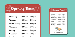 cafe opening times sign cafe shop play open