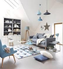 Schlafzimmer Blau Grau Gemütliche Innenarchitektur Gemütliches Zuhause Wohnzimmer Rot