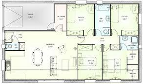 plan maison 4 chambre plan maison moderne plain pied 4 chambres gratuit with plan de
