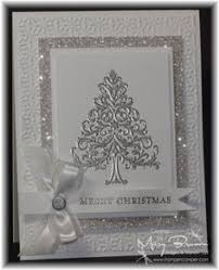 handmade card silver and white sparkly delight