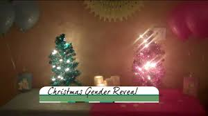 have people place blue or pink ornaments on a white tree for their