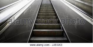 mechanical stairs detail of electric stairs stock photo royalty