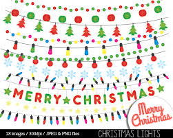 Colored Christmas Lights by Christmas Lights Clipart String Lights Fairy Lights Clip Art