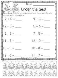 kindergarten addition and subtraction worksheets worksheets
