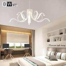 suspension pour chambre bwart moderne led plafond lustre éclairage nouveauté lustre