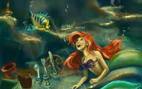 mermaid cartoon hd wallpaper 7021908
