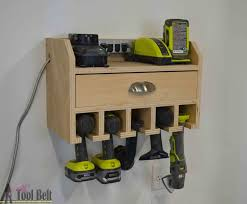 Charging Station Shelf Cordless Drill Storage Charging Station Her Tool Belt