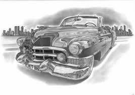 classic cars drawings cadillac by przemus on deviantart