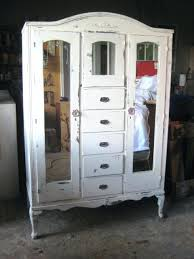 White Wardrobe Cabinet Broyhill Computer Armoire Sample Vintage French Provincial White