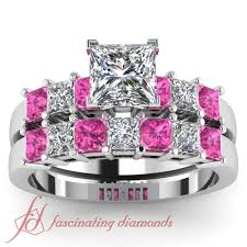 ebay wedding ring sets 2 ct princess cut pink sapphire charming engagement