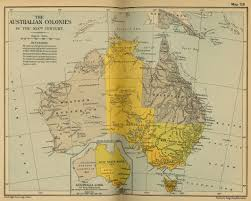 map of australia in the 19th century