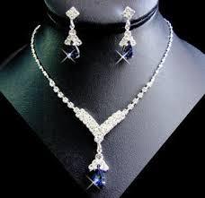 navy jewelry set navy blue rhinestone bridesmaid wedding jewelry bridal party