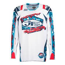 jt racing motocross gear jt racing usa jersey hyperlite bad bones red white blue 2017