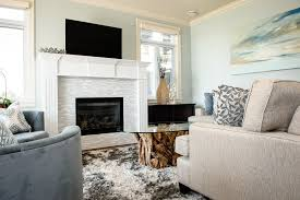 white electric fireplace fashion vancouver beach style living room