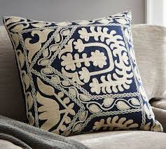 Pottery Barn Kilim Pillow Cover Tessa Embroidered Pillow Cover Pottery Barn