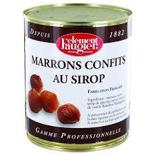 cuisiner les marrons frais marrons entiers confits au sirop
