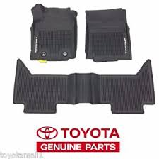 toyota tacoma floor mat 2016 2017 tacoma floor mat liners rubber dbl cab auto toyota