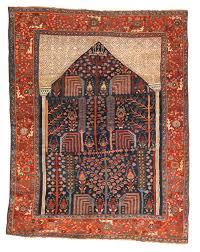 Boho Rugs Persian Bakshaish Prayer Rug Third Quarter 19th Century Textile
