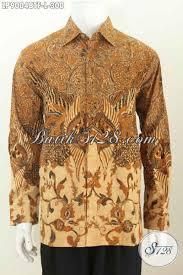 desain baju batik halus design baju batik pria lengan panjang kwalitas premium terkini hem