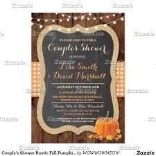 couple u0027s shower rustic fall pumpkin invitation couples shower