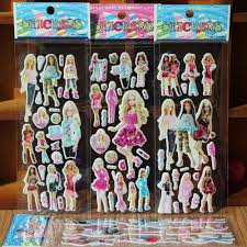 online get cheap wall stickers barbie aliexpress com alibaba group wholesale 20pcs lot mixed cartoon bubble wall stickers 3d barbie toys children s cartoon bubble stickers decoration sale