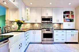 Black Kitchen Cabinet Handles by White Shaker Kitchen Cabinets With Black Hardware Caruba Info