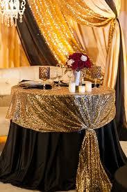 modern gold table l sacramento wedding planner and coordinator gold black white