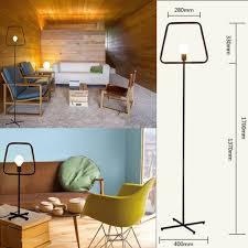 loft vintage retro simple floor desk l cast iron light l