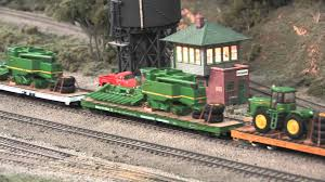 ralphstrains and deere ho scale model on the
