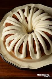white chocolate bundt cake with whipped cream cheese frosting
