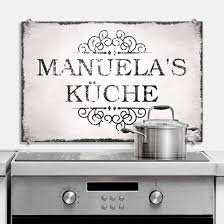 spritzschutzfolie küche spritzschutz wunschtext shabby küche wall de