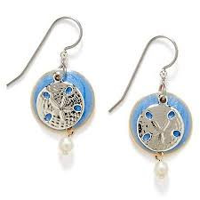 silver forest earrings silver forest sand dollar pearlescent earrings bealls florida