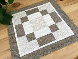 quilted square table toppers tan square table topper handmade quilted beige patchwork table