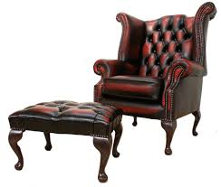 Chesterfield Sofas Ebay by Chesterfield Queen Anne High Back Wing Chair Oxblood Leather