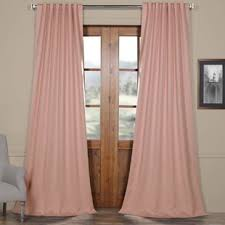 Light Pink Curtains Light Pink Blackout Curtains Wayfair