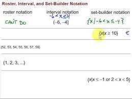 roster interval u0026 set builder notation youtube