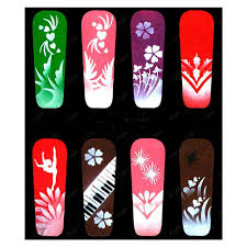 nail art stencils beautify themselves with sweet nails