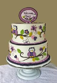 cake gallery cakes shower cakes owl theme