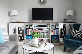 Tv Stands With Bookshelves by 13 Diy Plans For Building A Tv Stand Guide Patterns