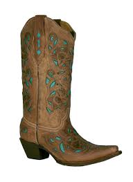 corral womens boots sale corral s laser overlay cowboy boots chocolate turquoise