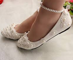 wedding shoes ankle white lace wedding shoes pearls ankle trap bridal flats low high