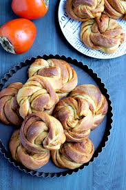 twisted persimmon cinnamon rolls two of a kind