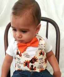 thanksgiving for baby boy gobble till you wobble vest bow tie