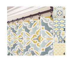 Yellow And Gray Window Curtains Yellow Gray Window Curtains Grey Blue Drapes Yellow Aqua