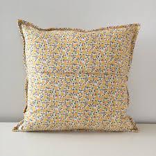 24x24 Decorative Pillows Cream Throw Pillows Toss Pillows Beige Striped Pillow Cover Cloud