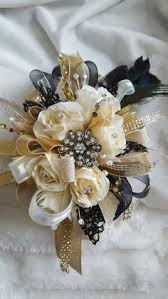 Gold Boutonniere Black U0026 Champagne Corsage U0026 Boutonniere Set Wedding Or Prom In
