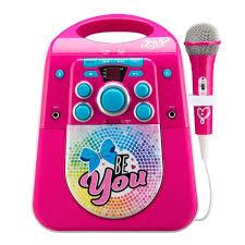 light up karaoke machine jojo siwa light up karaoke machine with microphone speakers and
