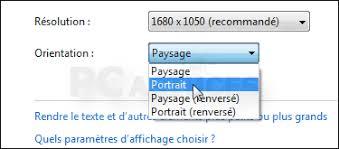 Laffichage De Lcran De Mon Pc Est Renvers Pivoter L Affichage Windows 7