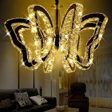Indoor Chandeliers Luxury K9 Butterfly Led Ceiling Light Modern Pendant L