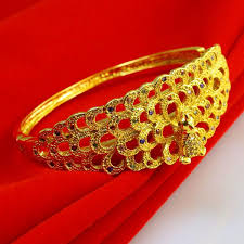 ladies gold bracelet bangle images Gold bracelet female models do not fade peacock dragon bracelet jpg